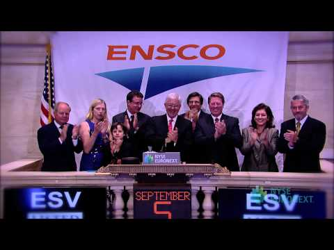 Ensco Plc Visits The NYSE To Celebrate Its 25th Annviersary Will Ring The NYSE Opening Bell