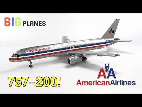 LEGO American Airlines 757! Chrome Livery, Full Interior, Over 5000 Pieces!!