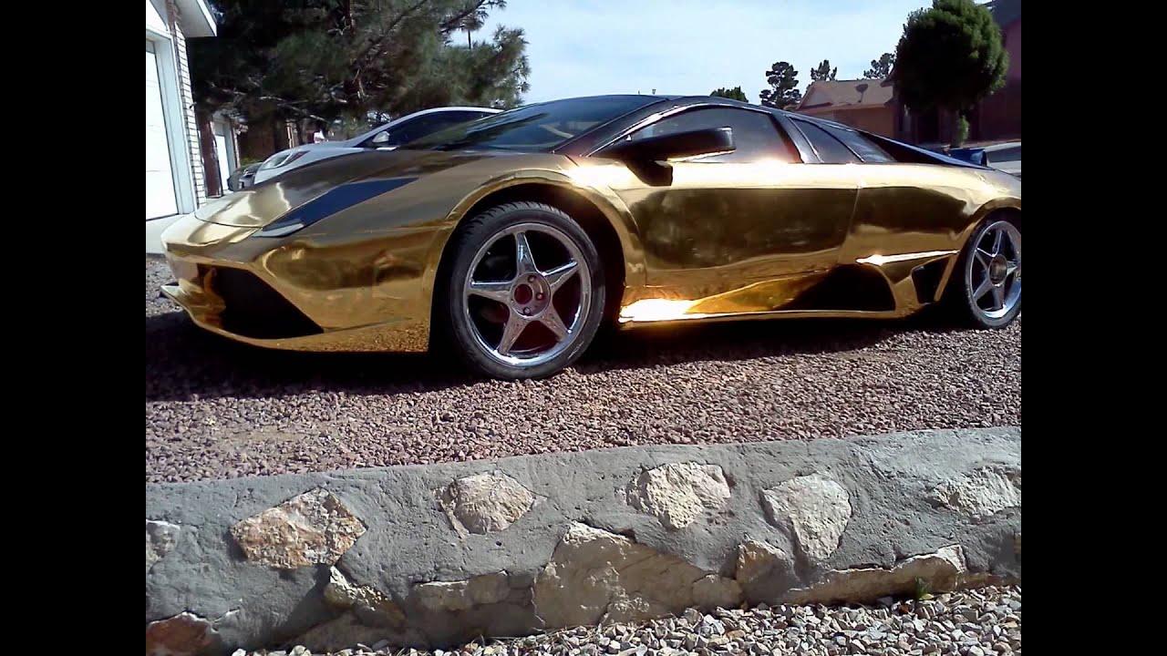 New Video Holy Gold Chrome Exotic Kit Car Lamborghini Murcielago