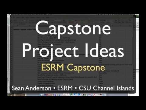 ESRM Capstone Project Ideas