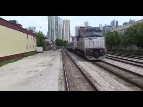 (HD) Amtrak Ride: Union Station to Glenview: Open Air Great View!