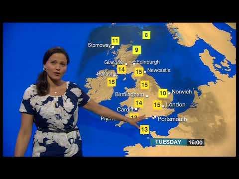 Elizabeth Saary - BBC Weather Presenter - News Channel (April 2014)