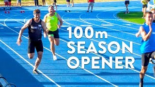 Nick Symmonds 100m Race Season Opener! #breaking11