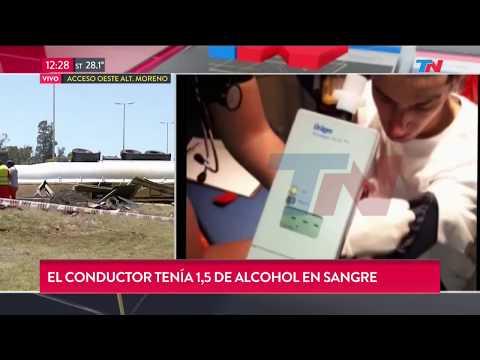 Manejó borracho y mató: Tenia 1,5 de alcohol en sangre