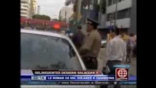 América Noticias: San Isidro: 'marcas' robaron 20 mil dólares a cambistas y desataron una balacera