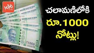 చలామణి లోకి రూ.1000 నోట్లు! RBI to Introduce New Rs.1000Notes Soon! | YOYO TV Channel