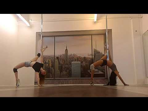 Masha Lu  & Jo Na   Exotic Pole Dance