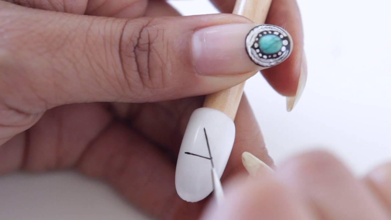 HOW TO FREEHAND NAIL ART LKE A PRO | abetweene - YouTube