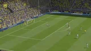 FIFA 15 Ps4 Online Aubameyang Cracking Volley From