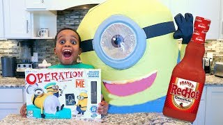 Download MINION OPERATION GAME CHALLENGE! Loser gets HOT SAUCE 🔥- Toy Game Challenge - Onyx Adventures Mp3