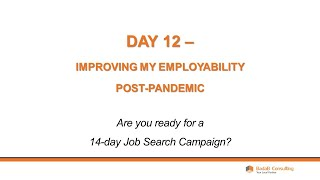 Day 12 - Improving My Employability Post Pandemic