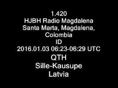1.420 HJBH Radio Magdalena, Santa Marta, Magdalena, Colombia ID
