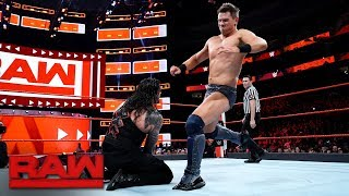 The Miz vs. Roman Reigns - Intercontinental Championship Match: Raw, Jan. 29, 2018