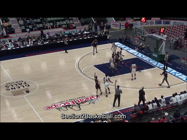 August Mahoney of Albany Academy makes 8 three pointers