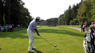 Lee Westwood rips driver at Wentworth @BMWPGA2012