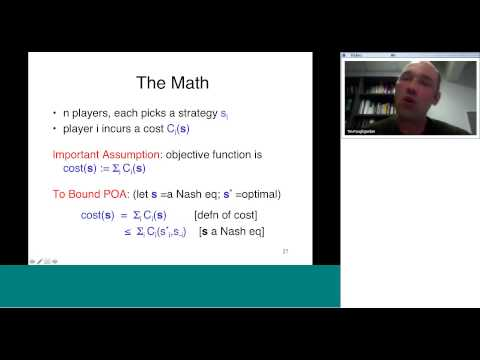 CESG Fishbowl Seminar: Extension Theorems for the Price of Anarchy