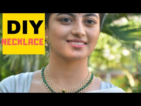 How to make Necklace   DIY   Craft India