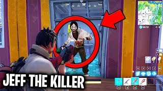 I found JEFF THE KILLER in Fortnite... (HE HACKED ME) *SCARY*