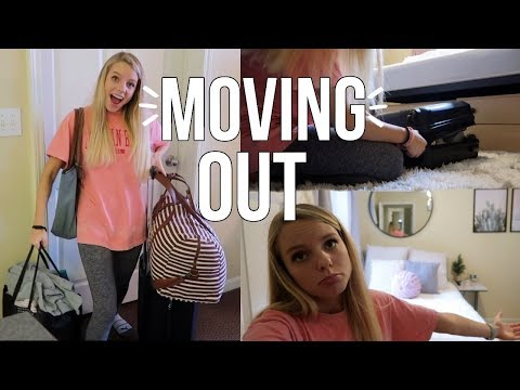 Moving Out Of My College Dorm!! Going Home!! Vlogmas Day 11
