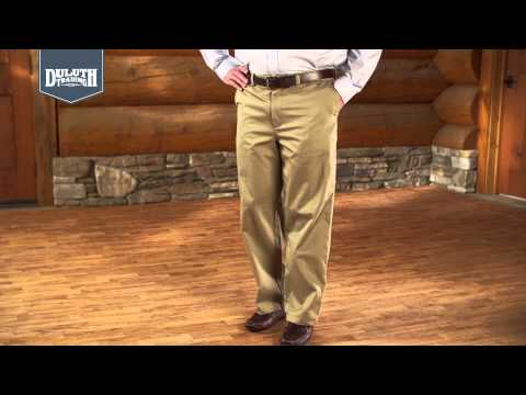 Duluth Trading Middle Management Plain Front Chinos