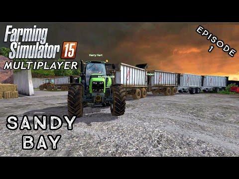 Multiplayer Farming Simulator 15 | Sandy Bay | Episode 1