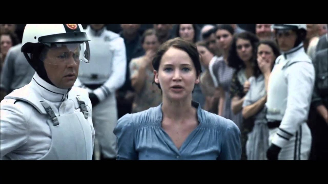 The Hunger Games Katniss And Peeta Reaping Scene Hd Youtube