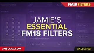 Football Manager 2018 | Essential Player and Staff Filters | FM18