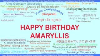 Amaryllis   Languages Idiomas - Happy Birthday