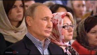 Russisch Orthodoxe Weihnachten: Putin auf Gottesdienst in St. Petersburg