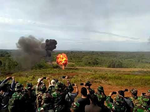 Formasi serangan tank leopard Latancab 2018 di Baturaja