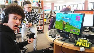 This 15 Year Old Kid Won A Game Of Fortnite In The Library (We Got Kicked Out)