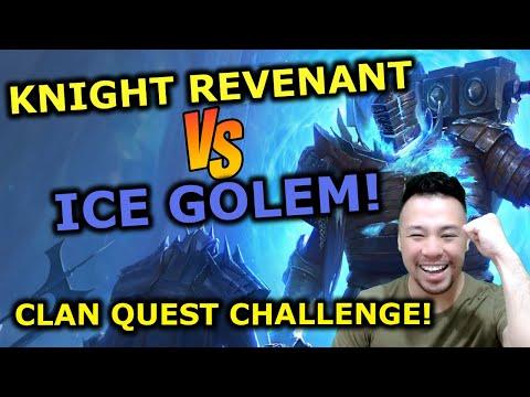 HAVING FUN WITH CLAN QUESTS! KNIGHT REV VS ICE GOLEM! RAID Shadow Legends |