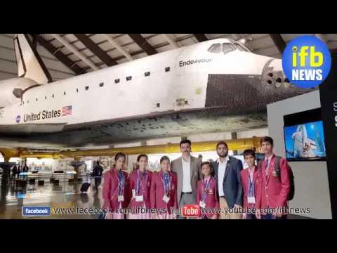 TMREIS ke students International Space Development Conference (ISDC), Los Angeles USA mein