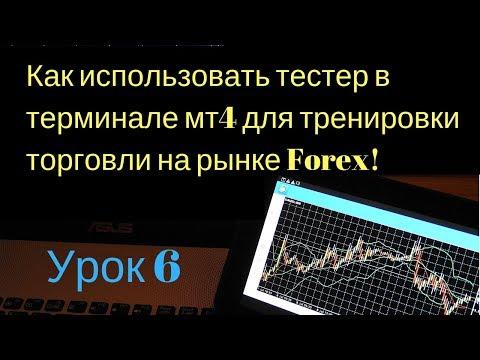 Как использовать тестер в терминале мт4 для тренировки торговли на рынке Forex!