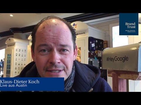 Klaus-Dieter Koch teilt seine Erkenntnisse des 3. Konferenztages der SXSW 2018