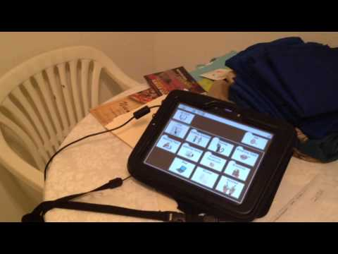 Non- Verbal Child with Autism Using His Communication Device