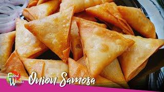 Onion Samosa Recipe  Evening Snacks  Irani Samosa  Street Food  How to fold Samosa  Foodworks