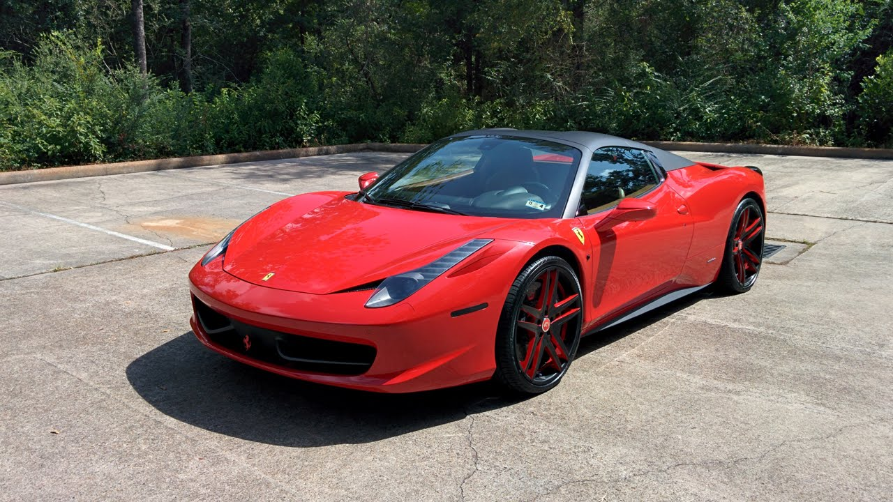 2013 Ferrari 458 Spider   Review In Detail, Start Up, Exhaust Sound, And  Test Drive   YouTube
