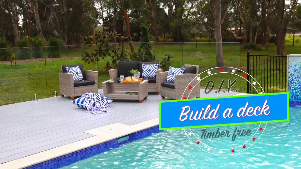 how to build a pool deck youtube