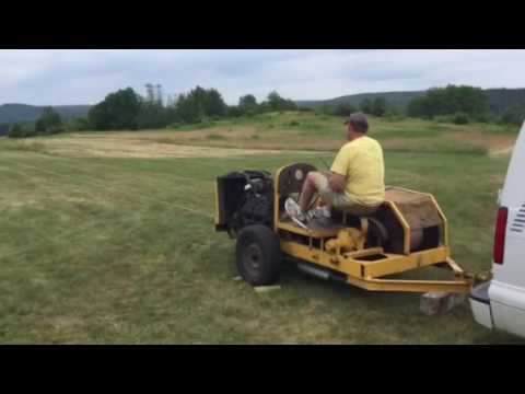 Vintage Glider Towing Winch in Action