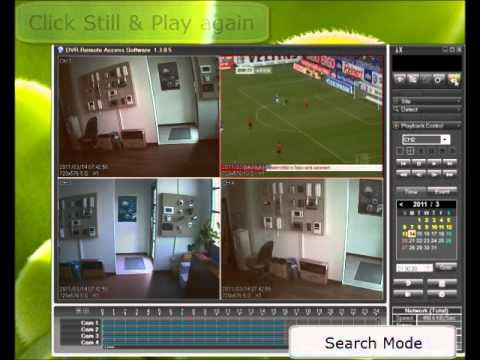 CCTV DVR search and playback with Client software