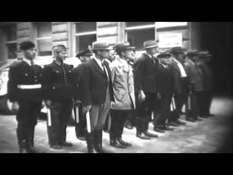 Post WW2 Cologne, Germany, 1945: Rhine Bridge; Smashing Hitler Statue (full)