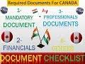Canada Tourist Visa Documents  Canada Required Document Checklist   Canada Document Requirement
