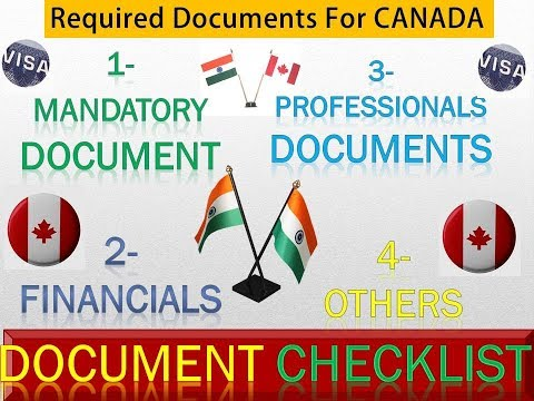 Canada Tourist Visa Documents |Canada Required Document Checklist | Canada Document Requirement