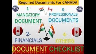 [15.63 MB] Canada Tourist Visa Documents |Canada Required Document Checklist | Canada Document Requirement