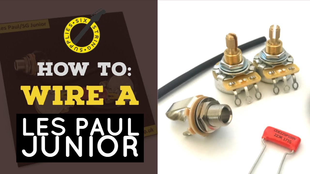 how to wire a les paul junior youtube. Black Bedroom Furniture Sets. Home Design Ideas