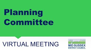 This is a meeting of the Mid Sussex District Council Planning Committee held on 15 July 2021. The...