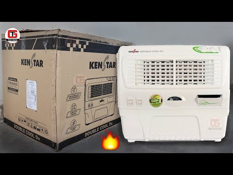 Kenstar Double Cool Dx 50-litre Air Cooler with trolley (white) Unboxing & Review