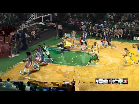NBA 2K15 - 1977 Sixers vs 1985 Celtics - wild Xavier Henry