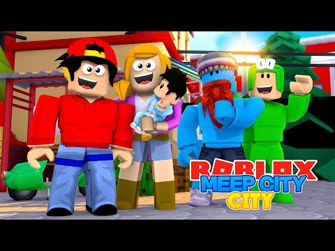 ROBLOX MEEP CITY - ROPO & LITTLE KELLY GET A BABY!!